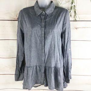 Sunday inBrooklyn Wiley Boho Chambray Peplum Shirt